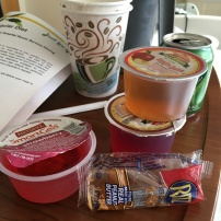 All I had to eat for at least 24 hours was ice chips! I was so happy to see this jello and crackers!